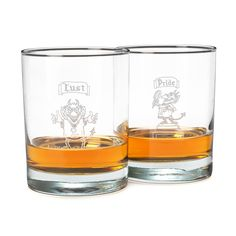 THE 7 DEADLY SINS GLASSES - SET OF 7 | UncommonGoods $72