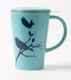 From David's Tea and it comes with a tea infuser! Davids Tea, Mug Printing, Best Tea, My Cup Of Tea, Tea Infuser, Tea Recipes, Iced Tea, Vintage Tea, Tea Mugs