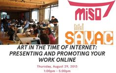 """Been thinking about """"getting your work online"""" for a while, but aren't quite sure about the best way to do it? Join the SAVAC hands-on workshop on Aug at Bento Miso & learn how to present & promote your work! You Working, Online Work, Asian Art, Bento, You Got This, Promotion, Workshop, Join, Internet"""
