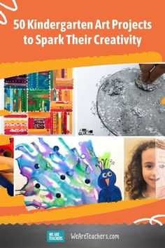 Kindergarten art projects are so much fun, for teachers and students! Teach them to explore their creativity in lots of different ways. Kindergarten Art Projects, Teaching Kindergarten, Preschool Classroom, Art Classroom, Teaching Art, Classroom Resources, Class Projects, Elementary Art Rooms, Art Activities For Kids