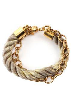 Green Clara Rope Bracelet