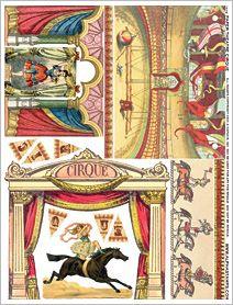 Paper Theatre Cirque Collage Sheet