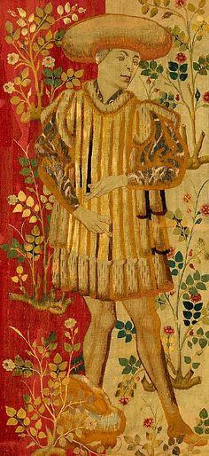 stilllifequickheart:    Unknown (Netherlands)  Figures in a Rose Garden  1450–55