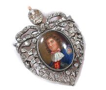 Historical Regal Enamel Miniature in Diamonds