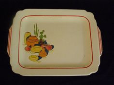 Harker Pottery Southwestern Theme Handled Platter Beautiful Pottery Theme Design ~ Rare ~ Wow what a display piece! by parkie2 on Etsy