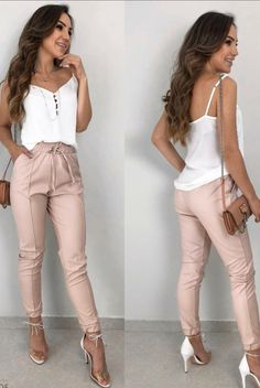 Cute teen girls spring outfits 04 ~ Dresses for Women Cute Spring Outfits, Chic Outfits, Outfit Summer, Look Kim Kardashian, Ashley Clothes, Business Outfits Women, Pants For Women, Clothes For Women, Professional Outfits