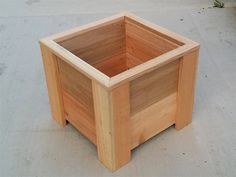 Size (L x W x H): 14 x 14 x 12 Materials: Untreated Cedar This is handmade untreated cedar garden planter. It is the perfect size for growing your own organic vegetables, herbs or flowers! You could also add a trellis to one side of it and grow vining plants, like tomatoes!