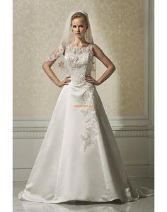 Satén Bez rukávů Přírodní Svatební šaty 2014