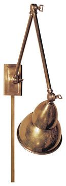 Task Wall Sconce, Hand-Rubbed Antique Brass traditional-wall-sconces