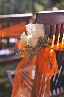 Flowers for the aisle chairs: Island Bliss Weddings