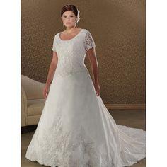 lace plus size wedding dresses
