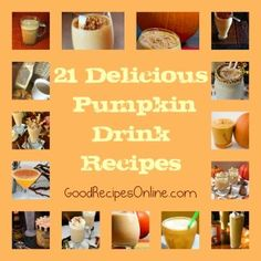 21 Delicious Pumpkin Drink Recipes – Collection