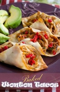 Recipe For  Baked Wonton Tacos