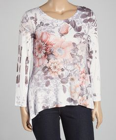 Another great find on #zulily! White Rose Sidetail Tee - Plus #zulilyfinds set to stand out