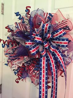 Hey, I found this really awesome Etsy listing at https://www.etsy.com/listing/385675256/patriotic-wreath-fourth-of-july-wreath
