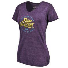 Paige VanZant UFC Women's Electric Tri-Blend V-Neck T-Shirt - Purple