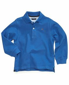 Tommy Hilfiger Kids Shirt, Little Boys Long-Sleeve Ivy Polo Shirts