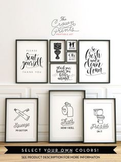 Printable bathroom wall art from The Crown Prints on Etsy – lots of funny quotes…  http://www.nicehomedecor.site/2017/07/14/printable-bathroom-wall-art-from-the-crown-prints-on-etsy-lots-of-funny-quotes/