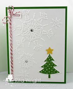 SU! Scentsational Season stamp set, Holiday Collection framelits and Northern Flurry embossing folder - Rita Wright