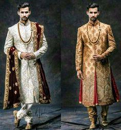 Indian Groom Dress, Wedding Dresses Men Indian, Wedding Dress Men, Pakistani Wedding Outfits, Wedding Men, Wedding Suits, Indian Outfits, Sherwani Groom, Mens Sherwani