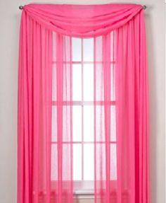 MONAGIFTS 2 PANELS HOT PINK Sheer Voile Window Panel curtains 59 WIDTH X 84 LENGTH EACH PANEL ** Check out the image by visiting the link.