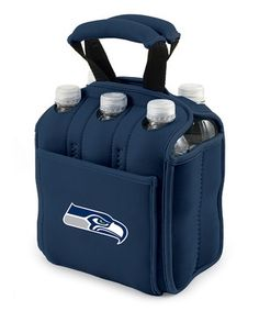 Make it simple to enjoy a cold beverage away from home. This carrier is made out of durable neoprene and is insulated for convenience. It features a front pocket and reinforced handles, along with six die-cut holes to loop over bottle necks to keep drinks in place.