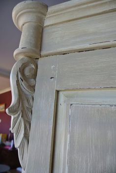 Country Grey over Old White French style armoire.