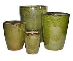 Jogo de Vasos Vietnamita - Verde Musgo