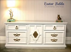 High Gloss Hollywood Regency Dresser by ExeterFields on Etsy, $795.00
