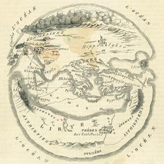 'Ulysses' Journey Was Far from Home' | M.O. MacCarthy, 'Carte du monde d'Homère' (1849), New York Public Library