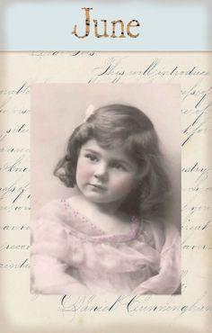 "Victorian ""Calender Girls"" ~ June"