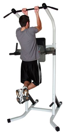Ultimately, a power tower is one of the most versatile workout devices you could ever own - so it's a fantastic addition to virtually any home gym setup. Workout Stations, Bar Workout, Gym Workouts, At Home Workouts, Pull Up Bar Stand, Best Pull Up Bar, Gym Setup, Dip Station, Dip Bar