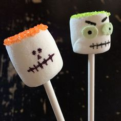 Here are some super fun to make Halloween Marshmallow Monster treat pops. Last year I found some Zombie marshmallow treats on Pinterest that I absolutely LOVED. So, I created these as an activity for my son's class party. I usually go for a Halloween Party mix, but thought a playing with our food sounded like more fun. So, … … Continue reading →