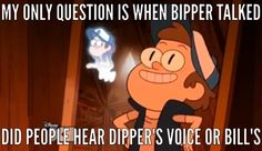 I always thought that bill was casting a illusion and the only way see past was for someone to explain it like dipper did