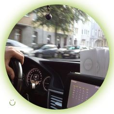 Our JOYSSI moment. A taxi driver driving with the JOYSSI flyers in his cab.  #taxidriver — hier: Düsseldorf.