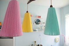 Lamp from the 50s with new colours, love the combination of the colours