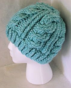 The Loom Muse : Chunky Cable Hat                                                                                                                                                                                 More