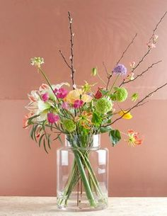Makes me happy just by the sight of it! Home Flowers, Happy Flowers, Bunch Of Flowers, Cut Flowers, Fresh Flowers, Silk Flowers, Spring Flowers, Beautiful Flowers, Arrangements Ikebana