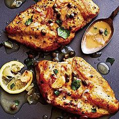The Best Chicken Piccata < Best Recipes of 2012 - Cooking Light Mobile Healthy Chicken Recipes, Cooking Recipes, Recipe Chicken, Chicken Sauce, Cooking Tips, Sautee Chicken, Chicken Salads, Thai Chicken, Cooking Food