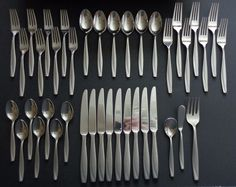 Oneida Camlynn Stainless Mixed Lot, 40 pieces, Spoons, Forks, Knives #Oneida