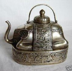Elephant Teapot, Objets Antiques, Argent Antique, Antique Silver, Vintage Silver, Art Asiatique, Silver Teapot, Teapots And Cups, Chocolate Pots