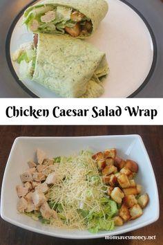Chicken Wraps, Chicken Caesar Wrap, Chicken Caesar Salad, Good Healthy Recipes, Healthy Snacks, Healthy Wraps, Ceasar Salat, Clean Eating Snacks, Healthy Eating