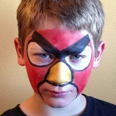 Angry Bird face paint!