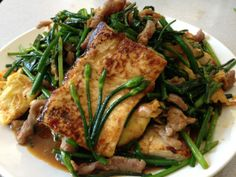 Tofu With Chinese Chive Buds