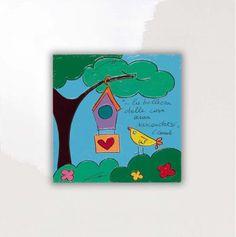 SALVADORIARTE dipinto a mano - quadro 28x28 - decorazione arredo casa aforisma P