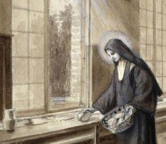 Description: Thérèse working in the refectory - detail. Catholic Art, Catholic Saints, Patron Saints, Roman Catholic, St John Paul Ii, Saint John, Sainte Therese De Lisieux, Religious Pictures, Christian Art
