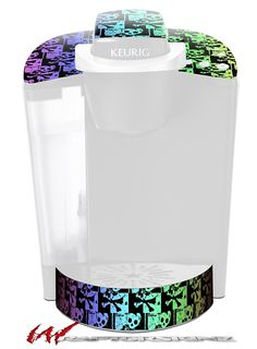 Skull Checker Rainbow - Decal Style Vinyl Skin fits Keurig K40 Elite Coffee Makers (KEURIG NOT INCLUDED) *** For more information, visit now : Coffee Tea Espresso