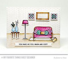 Make Yourself at Home, Make Yourself at Home Die-namics, Geometric Grid Background, Blueprints 27 Die-namics - Rubeena Naz #mftstamps
