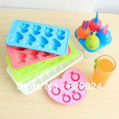Fusion Ice Cube Tray Easy Pop Maker Ice Cube plastica Silicone Top Mould 21/Ice Cubes TM