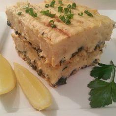 Chef John's Fisherman's Pie Recipe and Video Fish Dishes, Seafood Dishes, Fish And Seafood, Seafood Recipes, Main Dishes, Clam Recipes, Tuna Recipes, Pie Recipes, Casserole Recipes